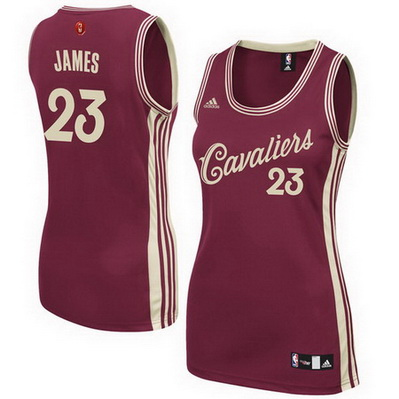 canotta nba donna cleveland cavaliers lebron james 23 natale 2015