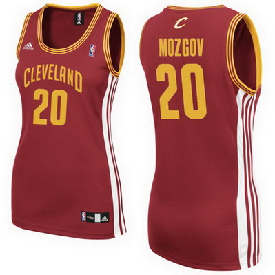 canotte basket donne cleveland cavaliers timofey mozgov 20 rosso