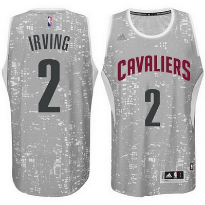 maglie uomo cleveland cavaliers kyrie irving 2 lights grigio