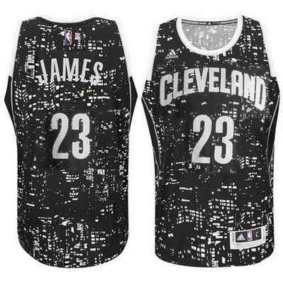 maglia basket cleveland cavaliers lebron james 23 lights nero