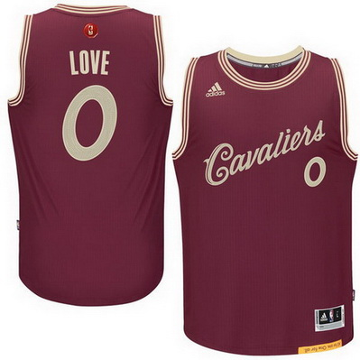 maglie basket cleveland cavaliers natale 2015 kevin love 0 rosso