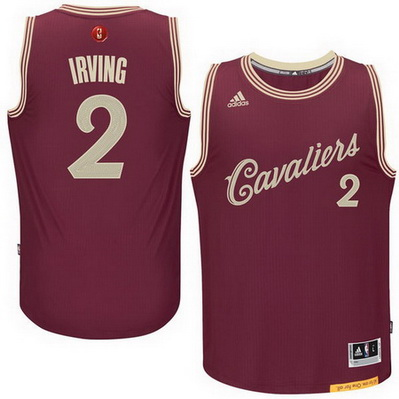 maglie uomo cleveland cavaliers natale 2015 kyrie irving 2 rosso