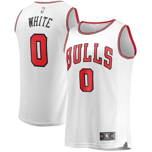 canotta basket Coby White 0 2019 chicago bulls bianca