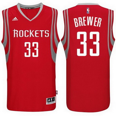 canotta uomo corey brewer 33 houston rockets rosso