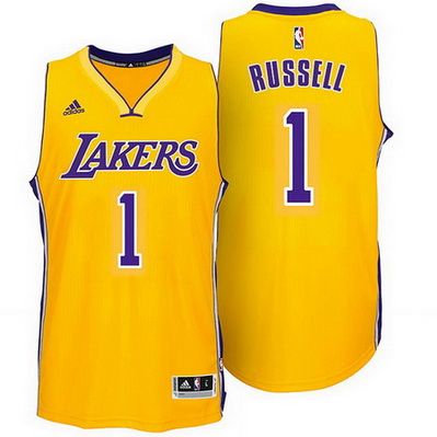 maglia basket d'angelo russell 1 2015 los angeles lakers giallo