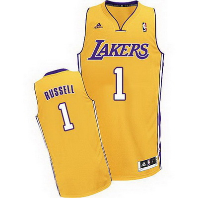 maglia d'angelo russell 1 los angeles lakers rev30 giallo