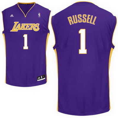 maglia basket d'angelo russell 1 los angeles lakers rev30 porpora