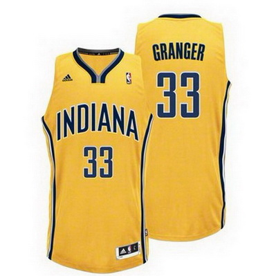maglia basket danny granger 33 indiana pacers rev30 giallo