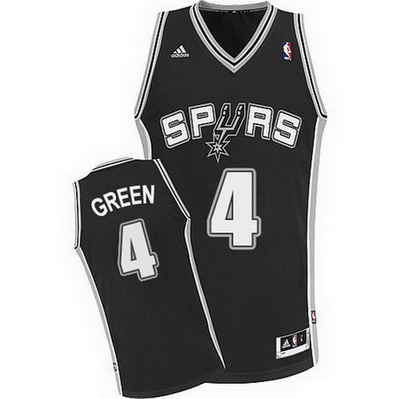 canotta basket danny green 4 san antonio spurs rev30 nero