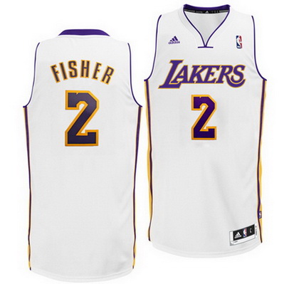 maglia uomo derek fisher 2 los angeles lakers rev30 bianca