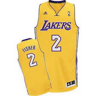canotta derek fisher 2 los angeles lakers rev30 giallo