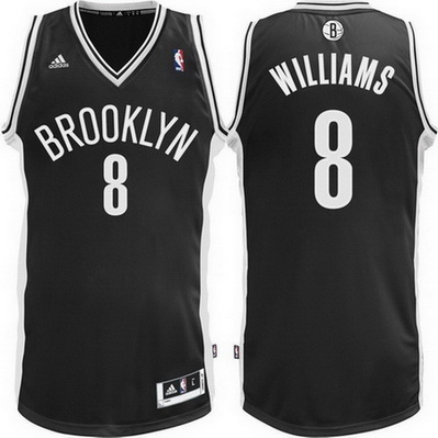 maglia basket deron williams 8 brooklyn nets rev30 nero
