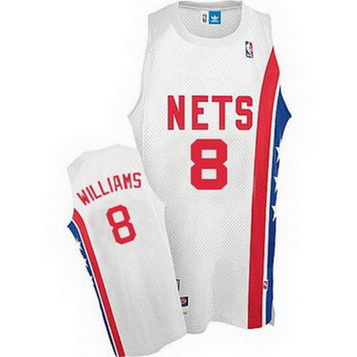 maglia nba deron williams 8 retro brooklyn nets bianca