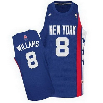 canotta basket deron williams 8 retro brooklyn nets blu