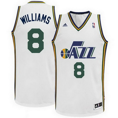 maglia basket deron williams 8 utah jazz rev30 bianca