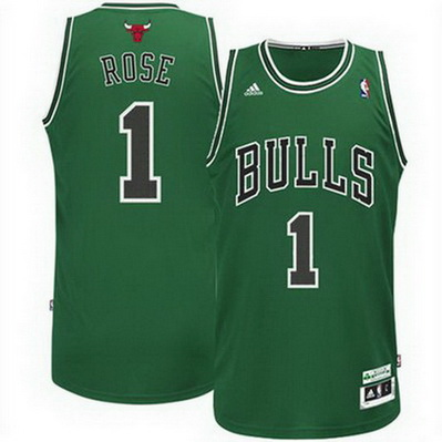 maglia basket derrick rose 1 chicago bulls rev30 verde