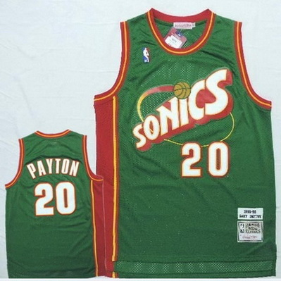 maglia basket gary payton 20 1995-96 seattle supersonics verde