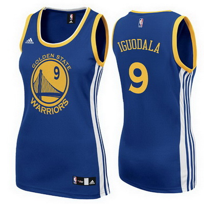 maglie basketa donne golden state warriors andre iguodala 9 blu