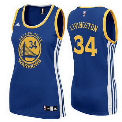 canotta basket donna golden state warriors shaun livingston 34 blu
