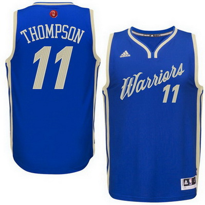 maglia uomo golden state warriors natale 2015 klay thompson 11 blu