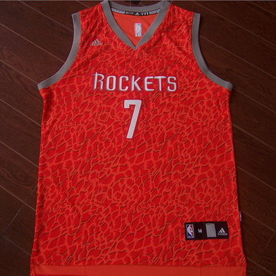 canotte basket houston rockets leopard jeremy lin 7 rosso