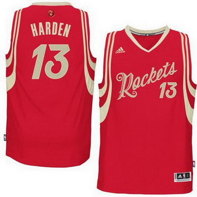 maglie basket houston rockets natale 2015 james harden 13 rosso