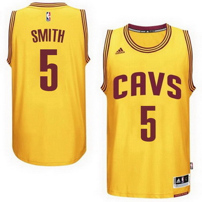 canotta nba jr smith 5 2015 cleveland cavaliers giallo