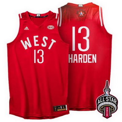 maglia basket james harden 13 nba all star 2016 rosso