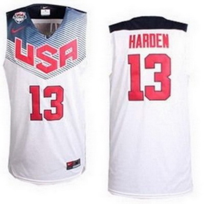canotte basket james harden 13 nba usa 2014 bianca