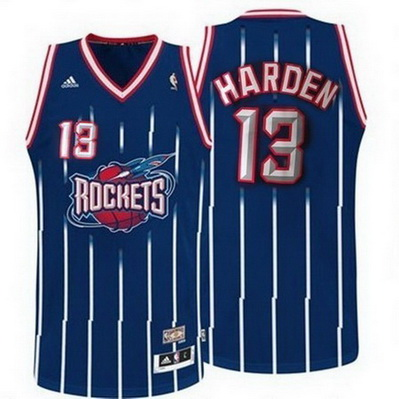 maglia basket james harden 13 retro houston rockets blu