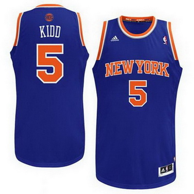 canotta uomo jason kidd 5 new york knicks rev30 blu