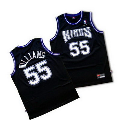 canotta basket jason williams 55 sacramento kings nero