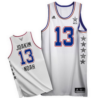 canotte basket joakim noah 13 nba all star 2015 bianca