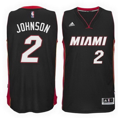 maglia nba joe johnson 2 2015 miami heat nero