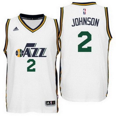 canotta uomo joe johnson 2 2016 utah jazz bianca