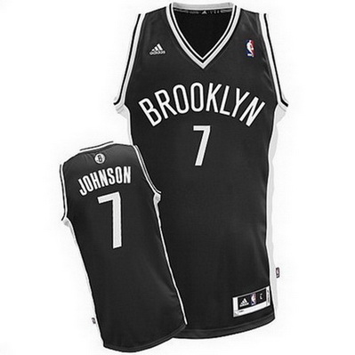 maglia basket joe johnson 7 brooklyn nets rev30 nero