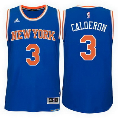 maglia nba jose calderon 3 2015 new york knicks blu