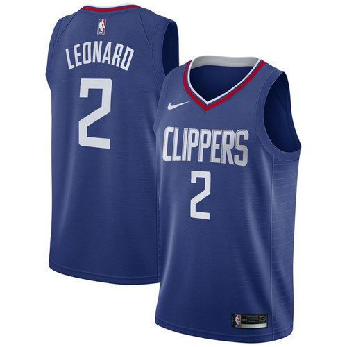 canotta nba Kawhi Leonard 2 2019 los angeles clippers blu