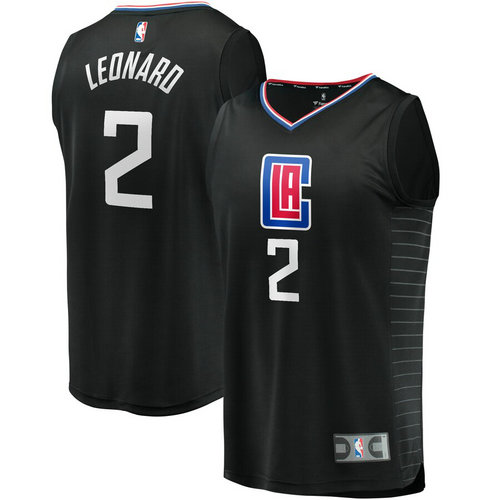 canotta nba Kawhi Leonard 2 2019 los angeles clippers nero