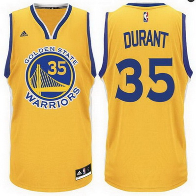 maglia kevin durant 35 2016 golden state warriors giallo