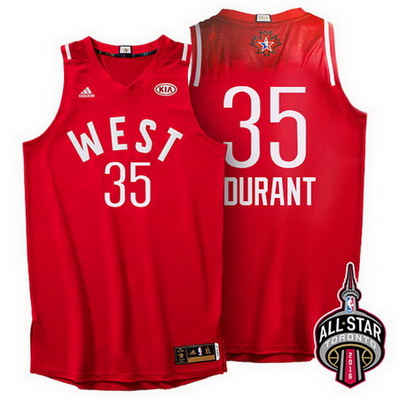maglie basket kevin durant 35 nba all star 2016 rosso