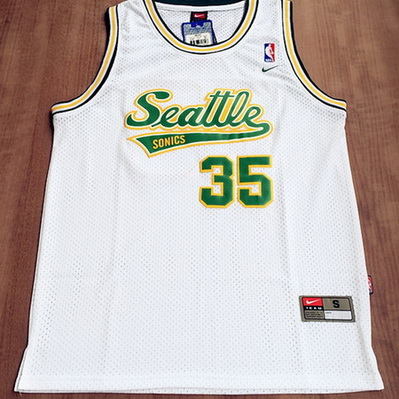 maglia kevin durant 35 seattle supersonics bianca