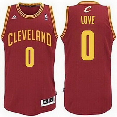 maglia nba kevin love 0 cleveland cavaliers rev30 rosso