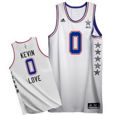 maglie uomo kevin love 0 nba all star 2015 bianca
