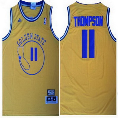 maglia nba klay thompson 11 retro golden state warriors giallo