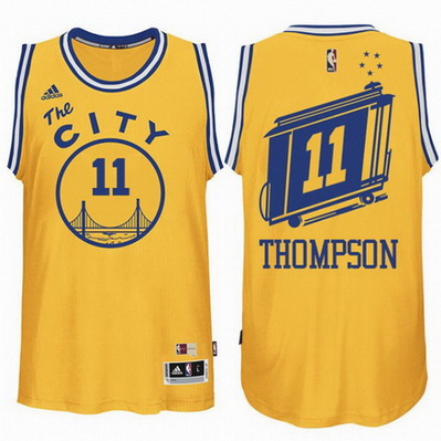 canotta klay thompson 11 retro golden state warriors the city