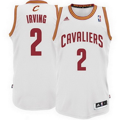 maglia kyrie irving 2 cleveland cavaliers rev30 bianca