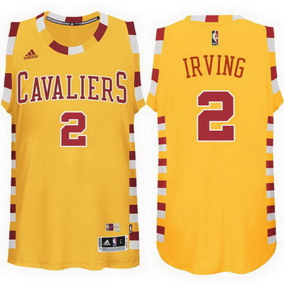 maglia basket kyrie irving 2 retro cleveland cavaliers giallo