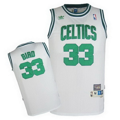 maglia larry bird 33 retro boston celtics bianca