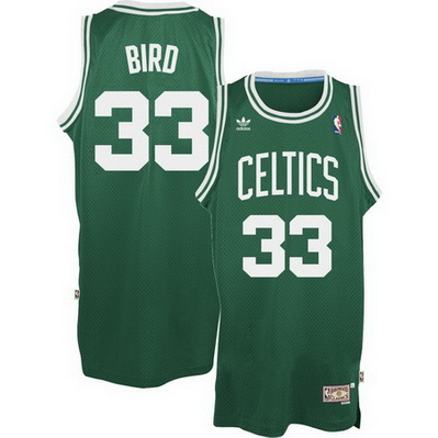 canotta nba larry bird 33 retro boston celtics verde